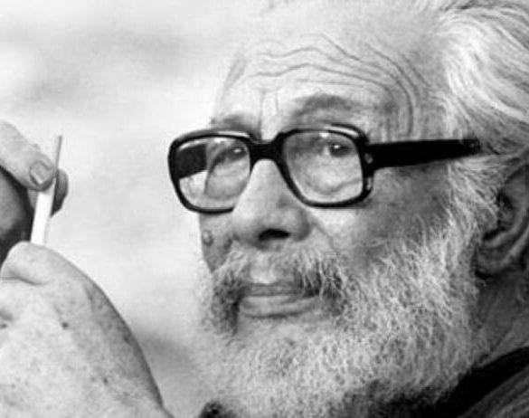 Κάρολος Κουν, σκηνοθέτης του θεάτρου. Θαν. 14 Φεβρουαρίου 1987.