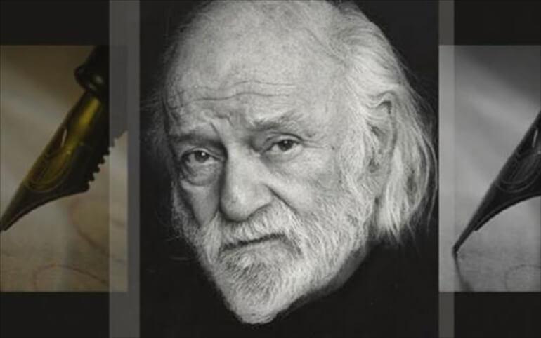 Νάνος Βαλαωρίτης, Έλληνας συγγραφέας. Γεν. 5 Ιουλίου 1921.